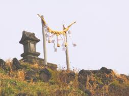 富士塚頂上